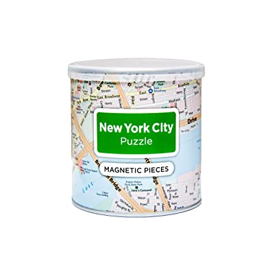 GeoToys 100 Piece Magnetic Puzzle, United States East Coast Cities - New York (Redesigned): Toys & Games