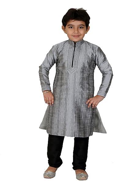 BEDIS - Pantalón de Traje - para niño Gris Grey n Black 14 ...