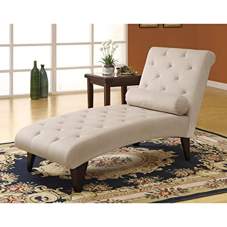 Monarch Specialties Velvet Fabric Chaise Lounger Taupe  sc 1 st  Amazon.com : velvet chaise - Sectionals, Sofas & Couches