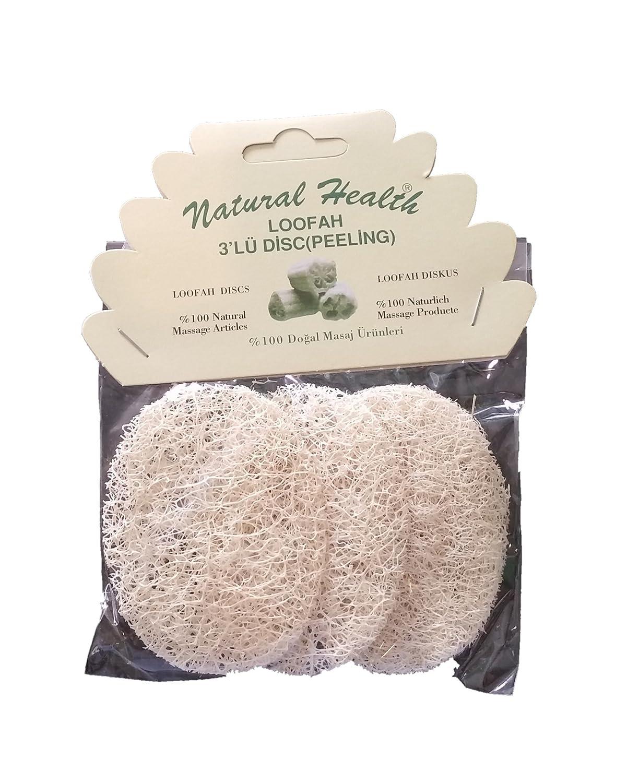 Natural Health Loofah Exfoliating pads 100% Natural pack of 3 CN Tekstil 12119