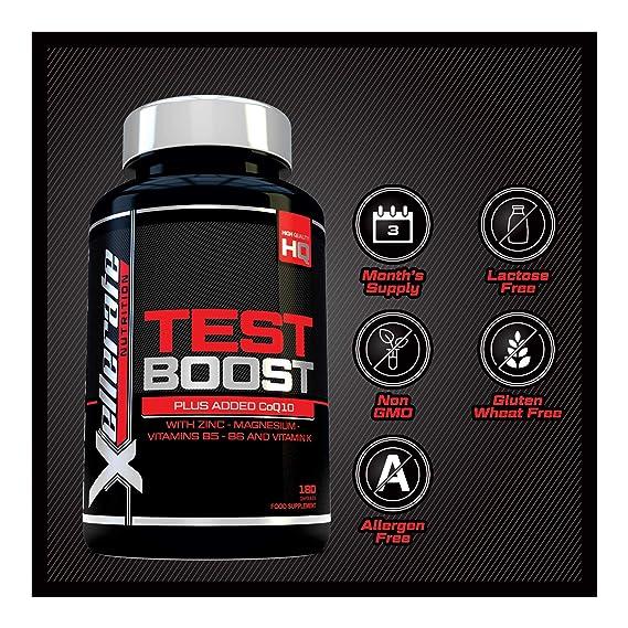 Test Boost para Hombres- 180 Cápsulas Suplemento de Apoyo Nutritivo de Testosterona - Los Ingredientes Contribuyen a los Niveles Normales de Testosterona ...