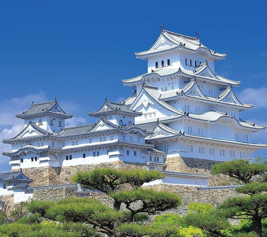 城 姫路城 QHD(1080×960)スマホ 壁紙・待ち受け