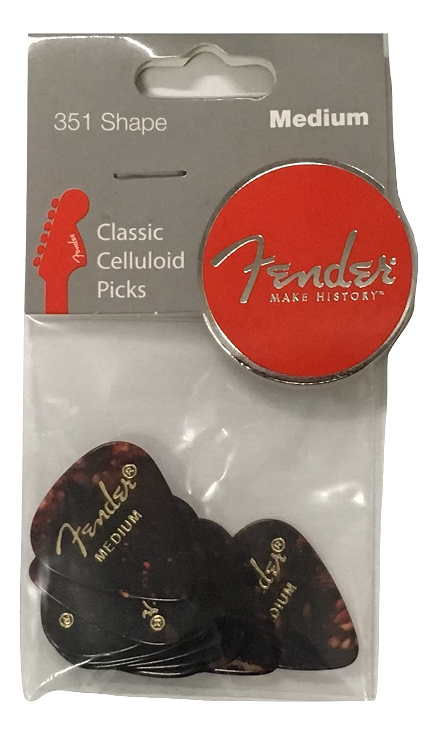 Fender 351 Classic Celluloid Picks (12-Pack) - Shell medium: Amazon.es: Instrumentos musicales