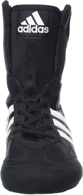 adidas Box Hog 2 Boxing Trainer Shoe Boot Black White