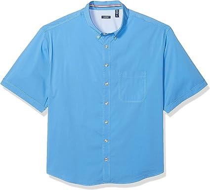 Izod Mens Big and Tall Outpost Short Sleeve Button Down Americana Shirt Button Down Shirt