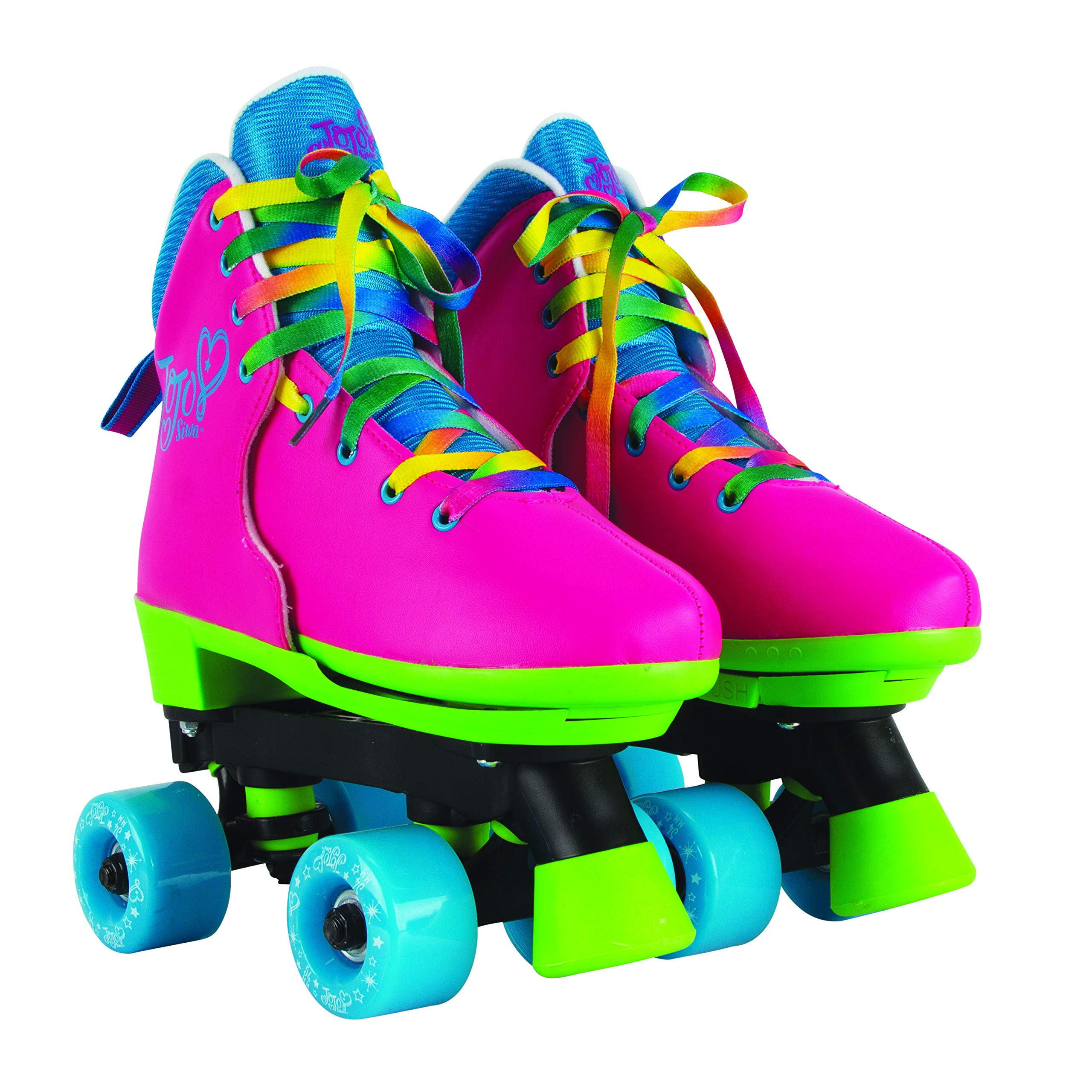 Circle Society Classic Adjustable Indoor & Outdoor Childrens Roller Skates - JoJo Rainbow - Sizes 12-3 by Circle Society