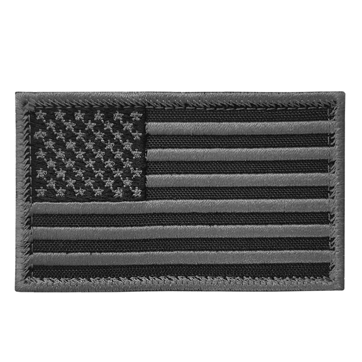 2AFTER1 ACU Black USA American Flag ISAF Morale Tactical Army Touch Fastener Patch P.1415.3.V