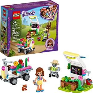 LEGO Friends Olivia's Flower Garden 41425 Building Toy for Kids; This Play Garden Comes with 2 Buildable Figures, Friends Olivia and Zobo, for Hours of Creative Play, New 2020 (92 Pieces)