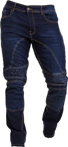 Qaswa Herren Motorradhose Jeans Motorrad Hose Motorradrüstung Schutzauskleidung Motorcycle Biker Pants Bekleidung