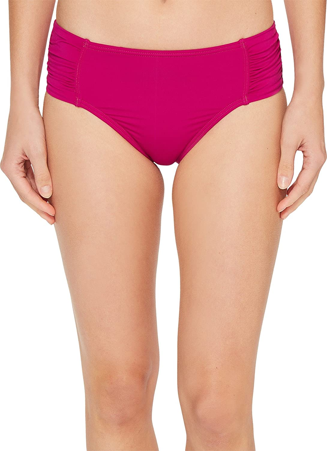 b13b08feea Amazon.com  Tommy Bahama Women s Pearl High-Waist Side-Shirred Bikini Bottom   Clothing