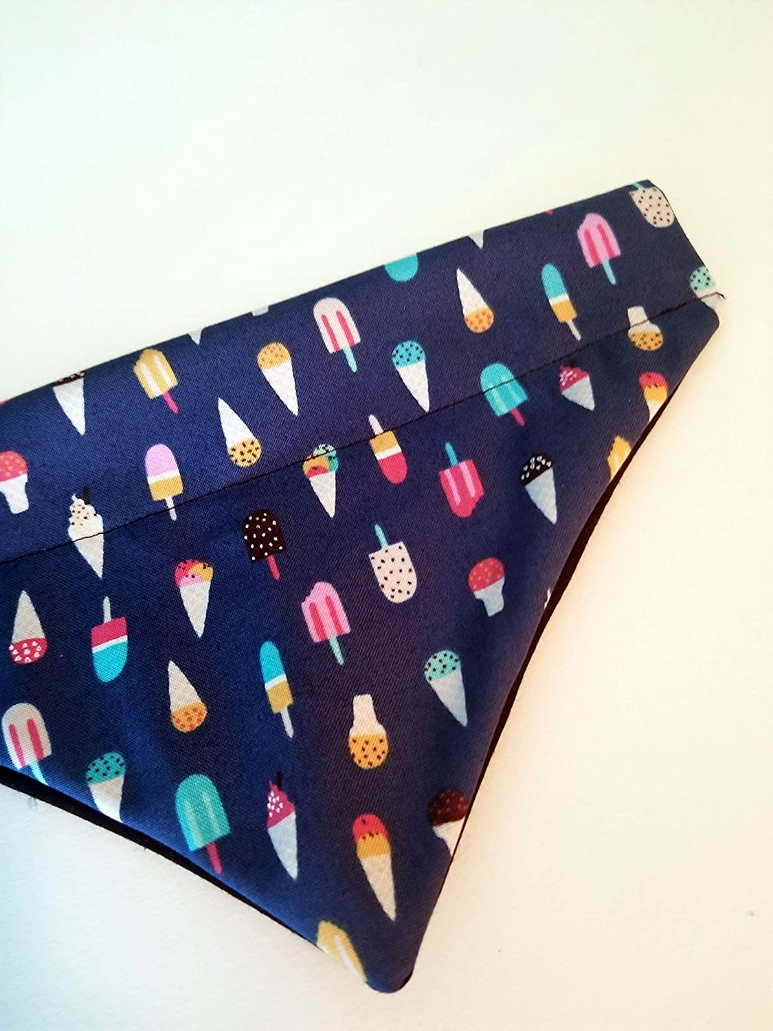 Tiny Summer Popsicles Over the Collar Dog Bandana Small