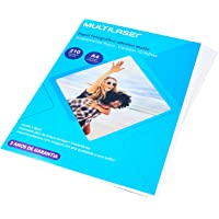 Papel Fotográfico Adesivo, Multilaser, PE007, 210G/M2, Branco, A4, 10 Folhas