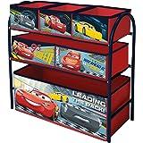 Contenitore a cassettiera per i giocattoli dei bambini, in metallo, multiuso, mobile per la cameretta deibambini