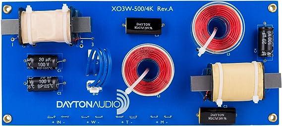 Dayton Audio XO3W-500/4K 3-Way Speaker Crossover 500/4