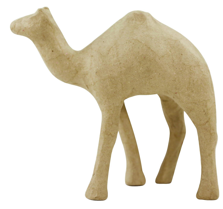 décopatch Mache Camel, 19 x 7 x 17 cm, Brown SA167O