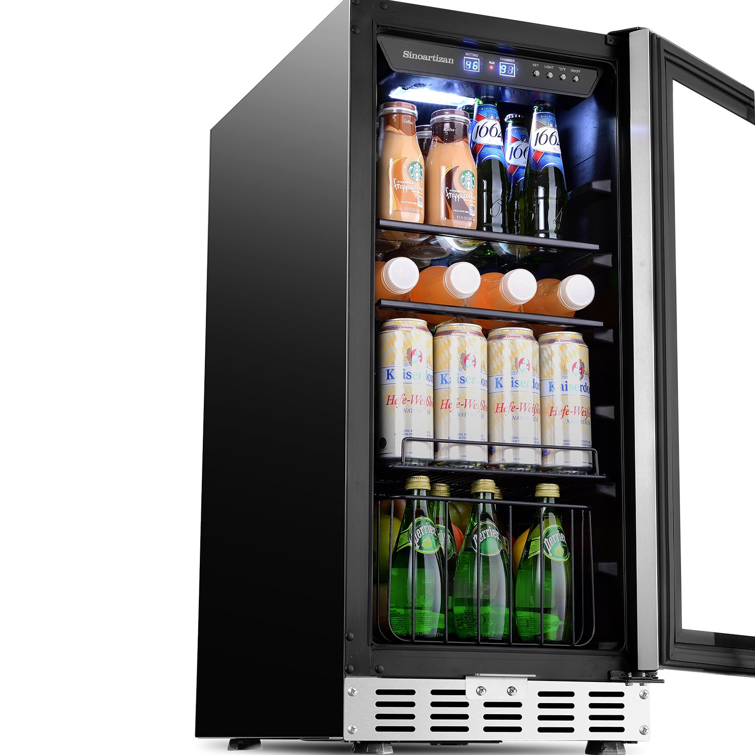 Beverage Cooler 15 Built In Or Freestanding Refrigerator With 3 Functional