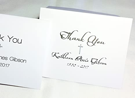 Amazon Com Personalized Note Cards With Name Or Initials Funeral