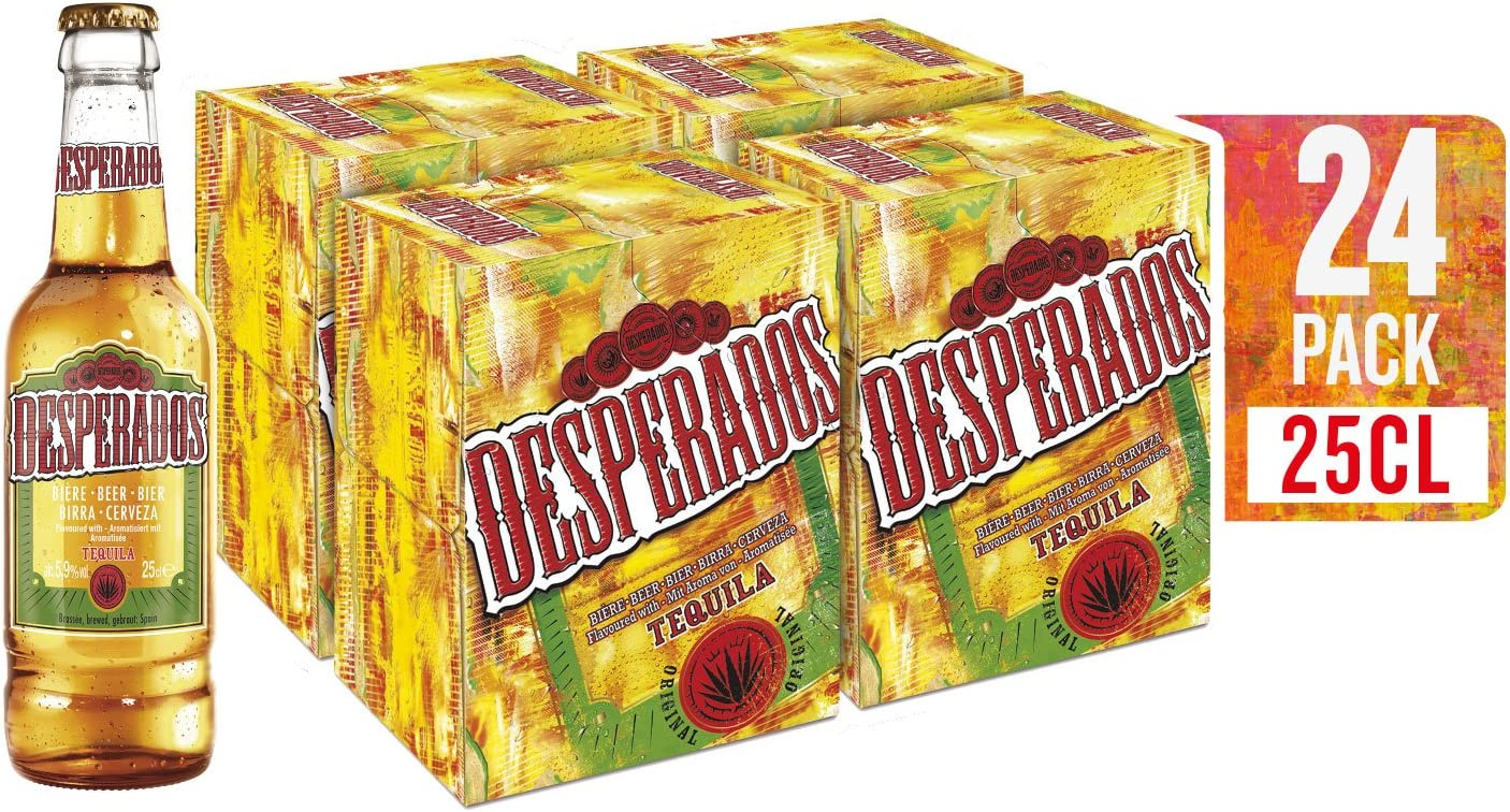 Desperados Cerveza - 4 Packs de 6 Botellas x 250 ml - Total: 6 L ...