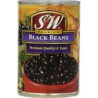 S&W Black Beans, 15 Oz