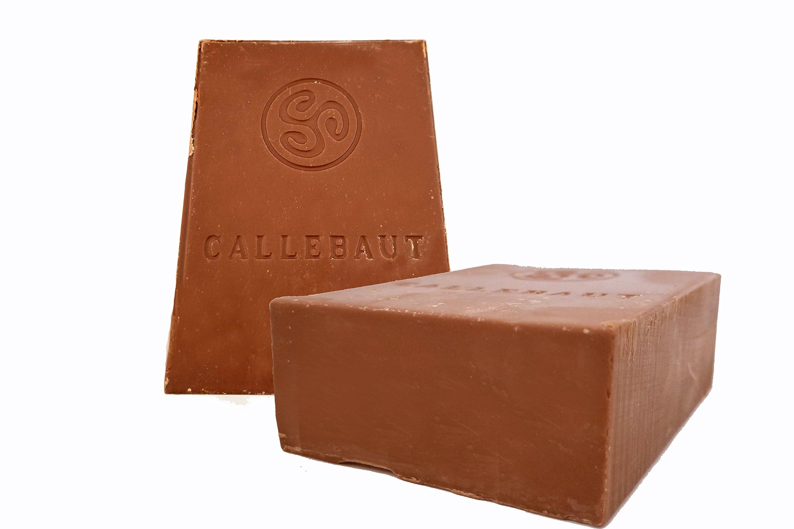 Callebaut Finest Belgian Milk Chocolate Blocks - Approximately 1 pound per Block