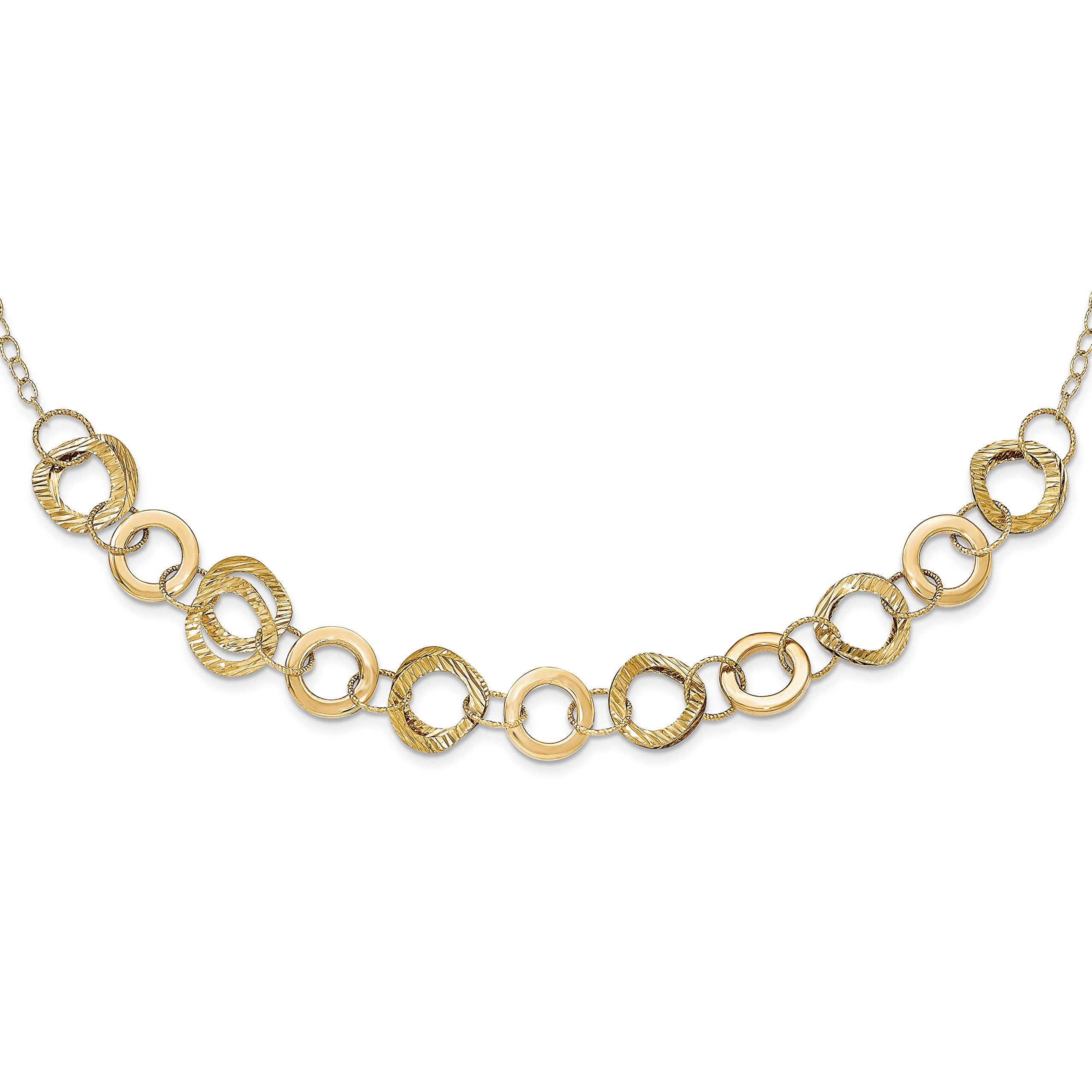 ICE CARATS 14k Yellow Gold / Link/open Cuban Link Chain Necklace H Fine Jewelry Gift Set For Women Heart