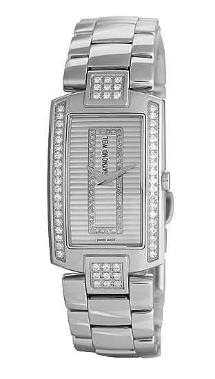 Raymond Weil Watches Shine 1800-ST2-42381 - Reloj analógico de cuarzo para mujer, correa de acero inoxidable multicolor: Amazon.es: Relojes