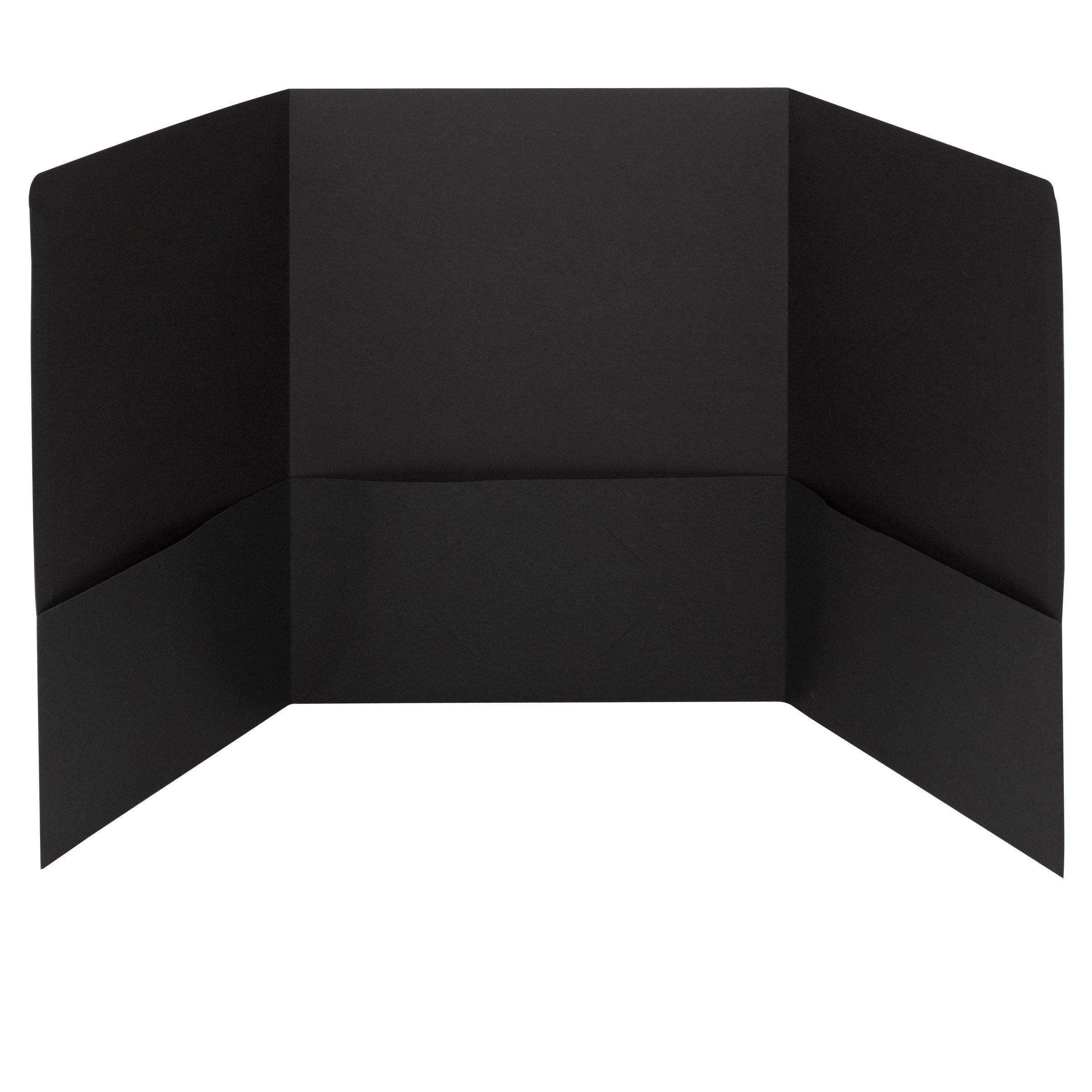 Smead Tri-Fold Pocket Folders, Holds up to 150 Sheets, Letter Size, Black, 20 per Box (87812)
