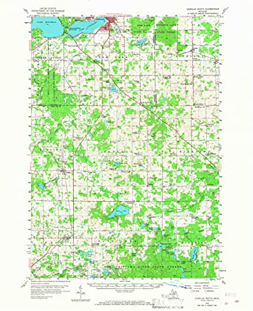 Amazon Com Yellowmaps Cadillac South Mi Topo Map 1 62500 Scale