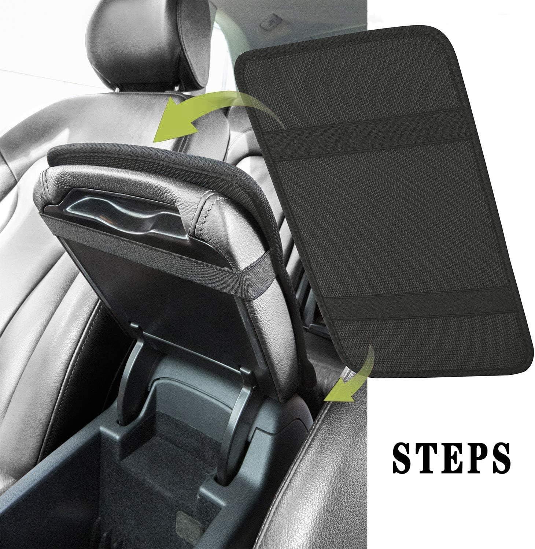 Console Cover Armrest Pads Fashion Leopard Print Universal Car Seat Box Protector Arm Rest Cushion HUGS IDEA Auto Center Console Pad