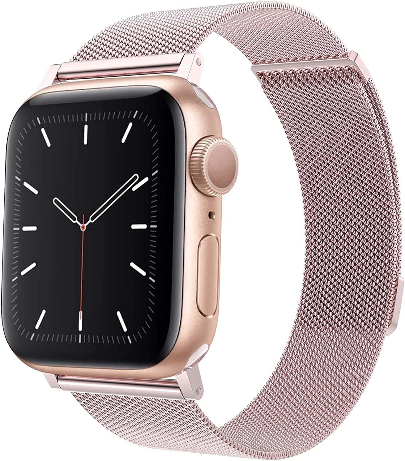 LKSA Compatible with Apple Watch Band 44mm 42mm 40mm 38mm,Stainless Steel Replacement Bands for iWatch Series 6/SE/5/4/3/2/1