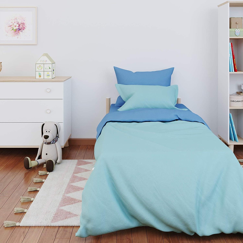 SpazioTessile Parure de lit en Tissu 100/% Coton imprim/é l/éopard z/ébr/é 5 Tailles lit 160 x 190 cm Tachet/é