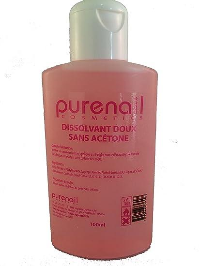 Purenail S015-100 - Quitaesmalte profesional sin acetona (100 ml)