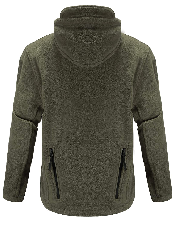 iClosam Herren Fleecejacke Military Outdoor Winddichte Sweatshirt mit Kapuze