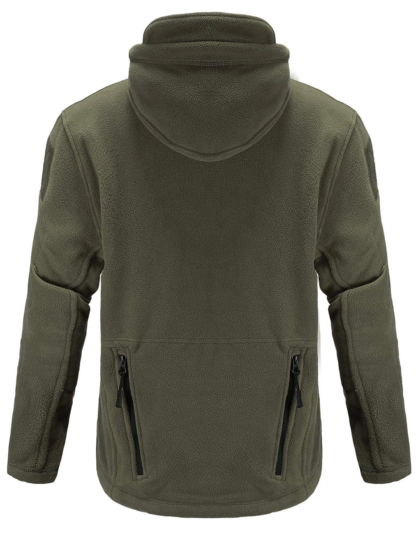 83a77b994 Abollria Men's Warm Military Tactical Sport Fleece Hoodie Jacket Fall Winter  Soft Polar Fleece Coat Jacket at Amazon Men's Clothing store: