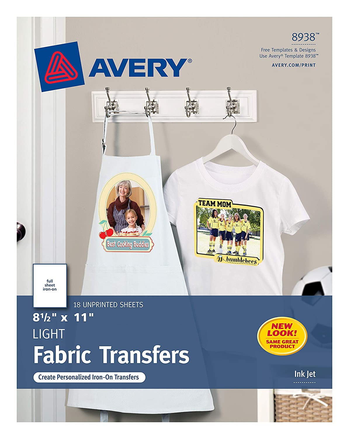 Amazon Avery T Shirt Transfers For Light Fabric 85 X 11