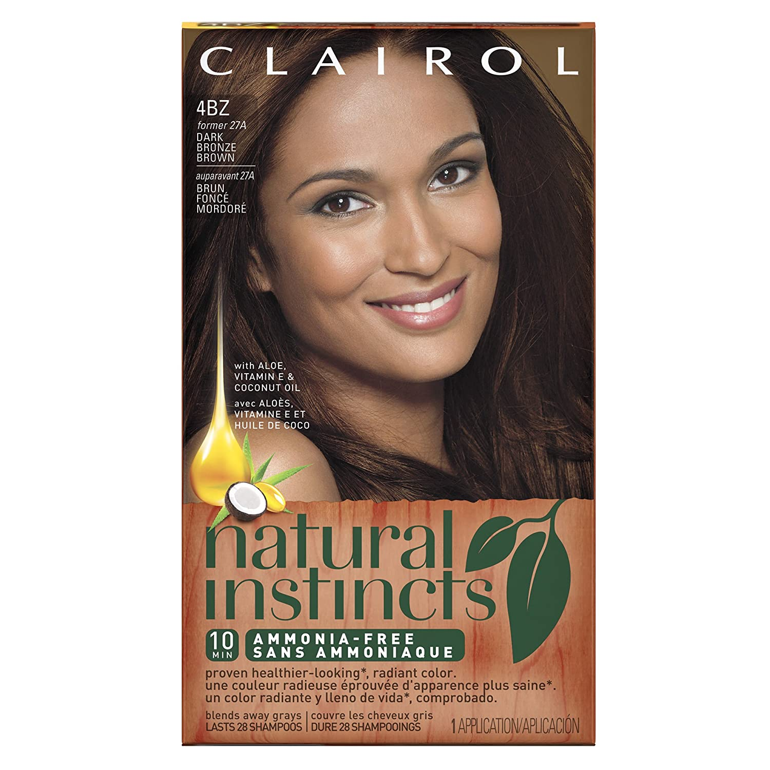 Clairol Natural Instincts Hair Color 28G Golden Cappuccino, Dark Golden Brown 1 Kit (Pack of 3)