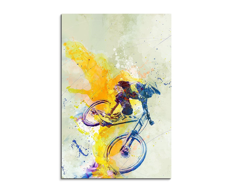 VTT DH 90/x 60/cm D/écoration murale Sport image Aquarelle Art Couleurs de Paul Sinus