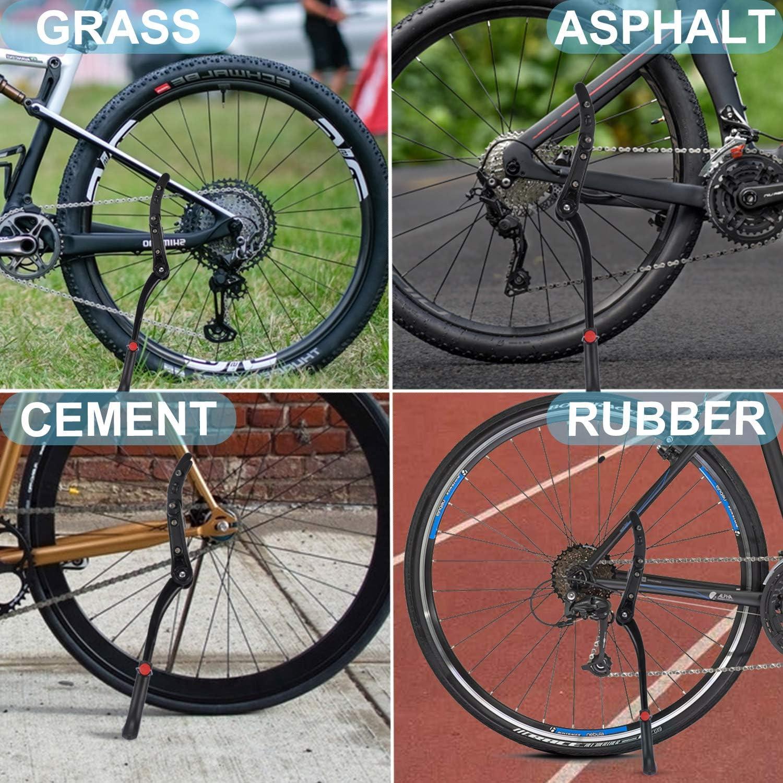 Verstellbarer Seitenst/änder Fahrrad Einfache Montage Fahrrad St/änder mit Rutschfester Gummifu/ß f/ür Erwachsene Mountainbike mit 24-29 Zoll R/ädern Gifort Fahrradst/änder