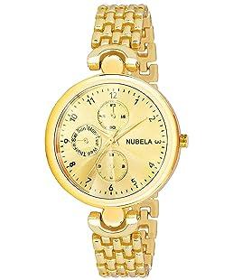 NUBELA Analog Dial Women's Watch-RD Gold