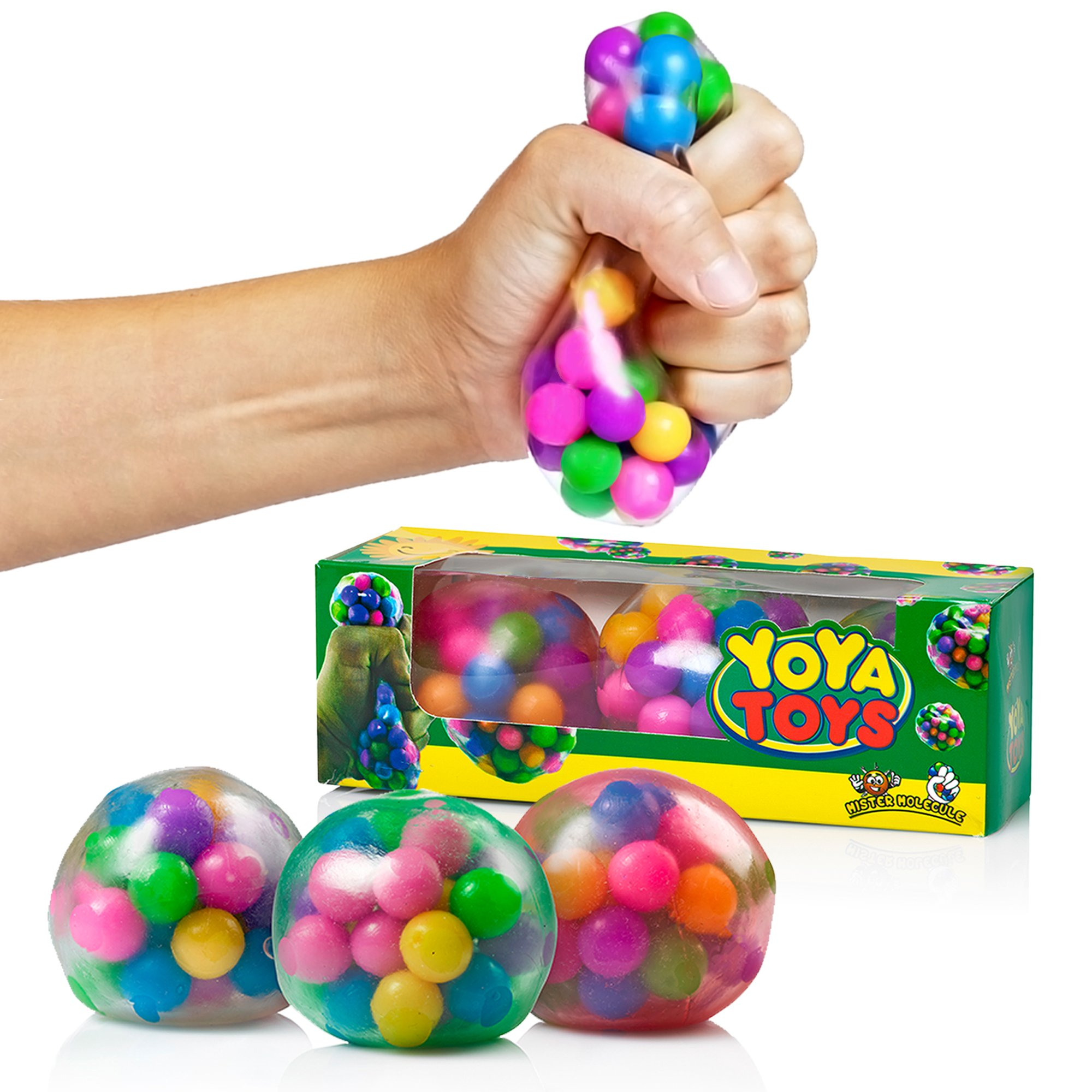 Sensory Toys For Adults : Dna stress ball by yoya toys pack squeezing
