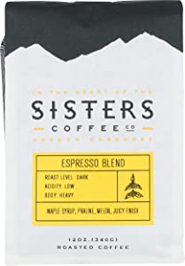 Sisters Coffee, Coffee Espresso Blend Organic, 12 Ounce