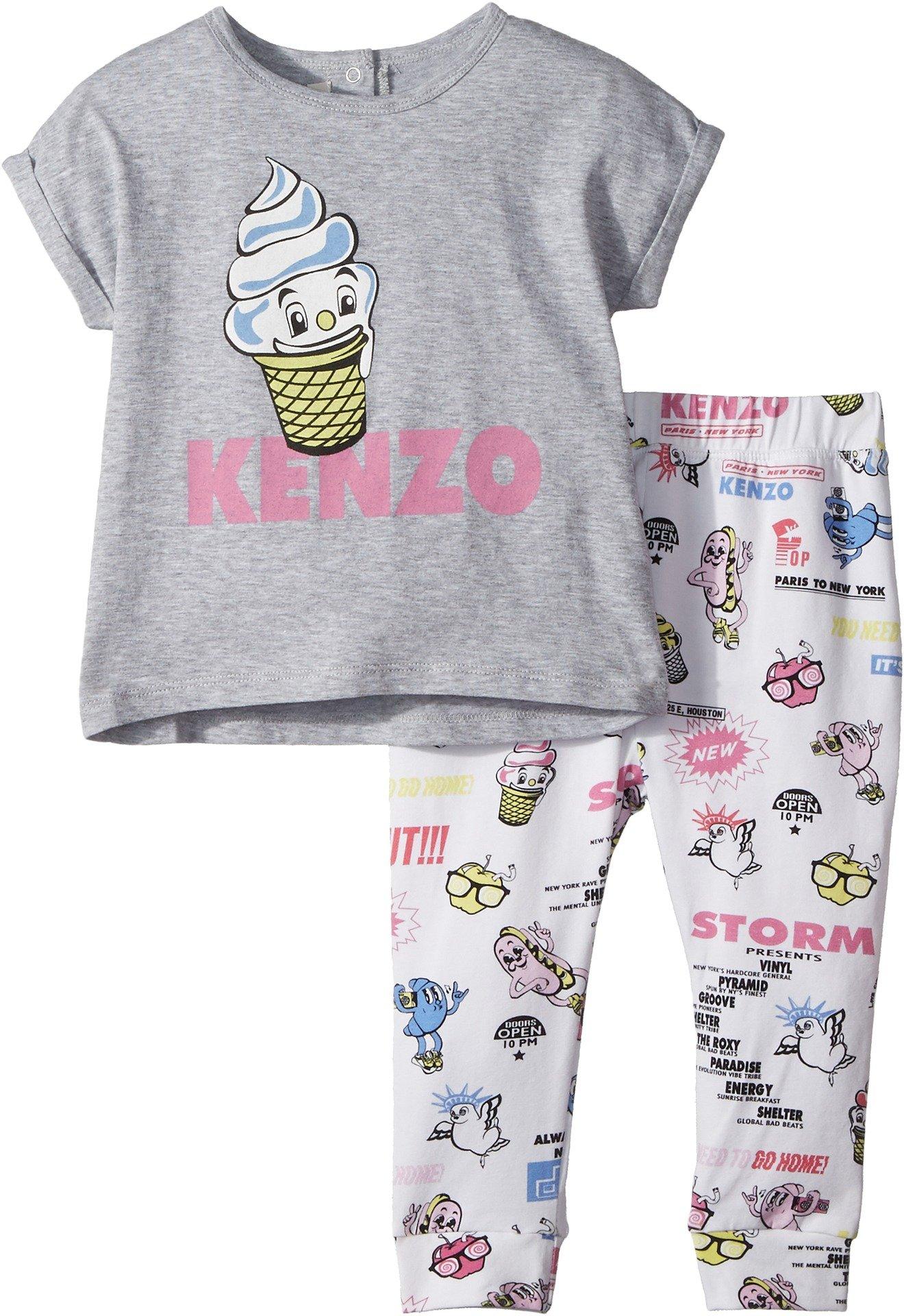 Kenzo Kids Baby Girl's Food Print Two-Piece Set (Toddler) White