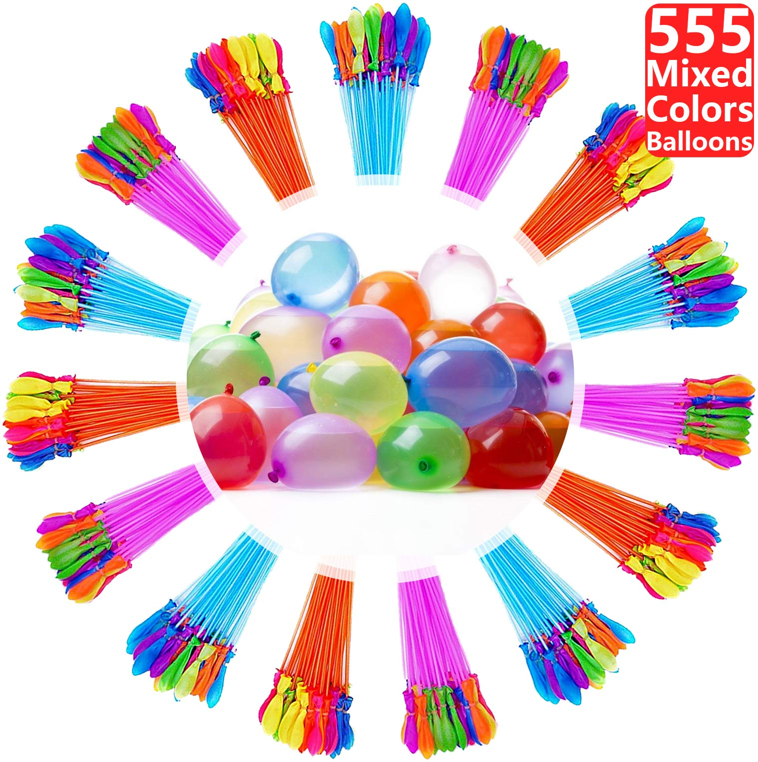 Water Balloons for Kids Girls Boys Balloons Set Party Games Quick Fill Water Balloons 555 Bunches Swimming Pool Outdoor Summer Fun V43