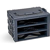 Bosch Sortimo i-Rack 3-vaks in antraciet voor gereedschapskoffer, innovatief transportsysteem, Bosch gereedschapskoffer…