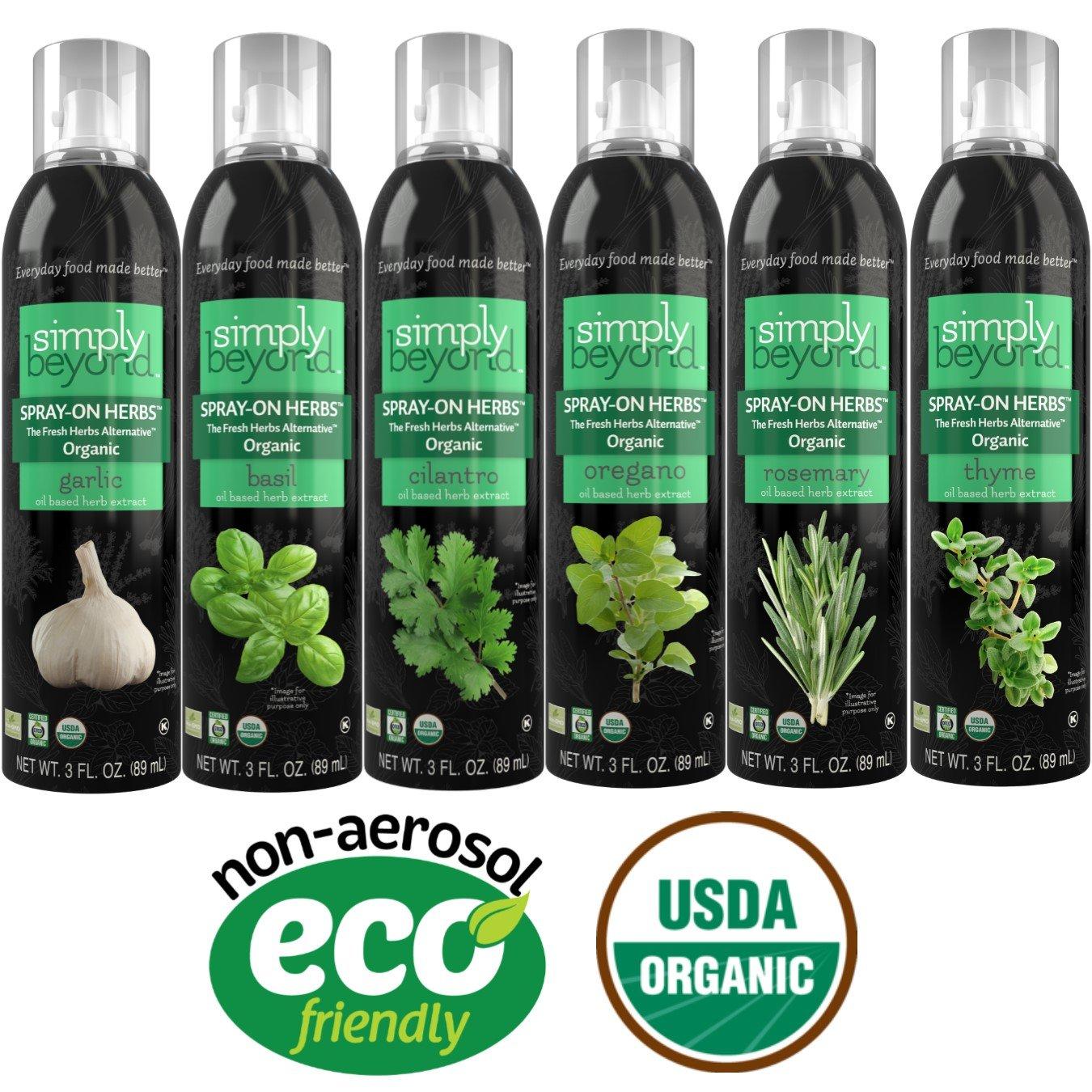 Simply Beyond Organic Spray-On Herbs Starter Kit (Starter Kit, 6 Pack)