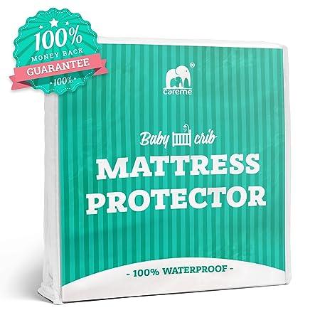 Protector de colchón impermeable para cuna Pad con goma de borrar - fácil de poner y quitar en - sedoso suave, hipoalergénico, transpirable microfiber- Bug ...