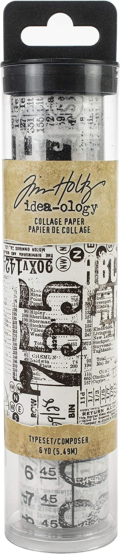Tim Holtz Advantus COLLAGE PAPER TYPEST 6YDS Typeset