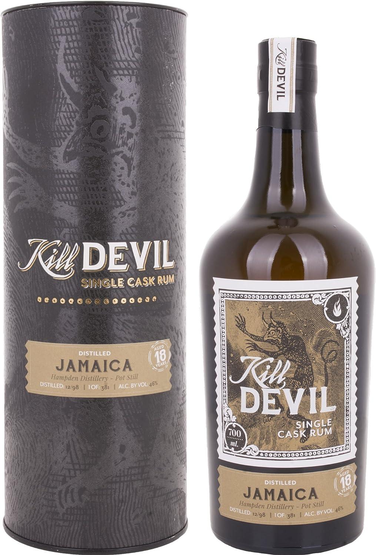 Kill Devil 18 Años de Edad Jamaica Solo Barril Ron en Caja de Regalo - 700 ml