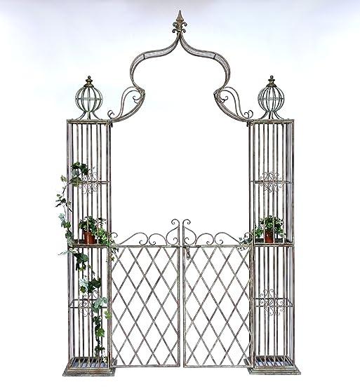 Top Arco di rose con porta Pforte 110241 in metallo ferro-battuto  KT33