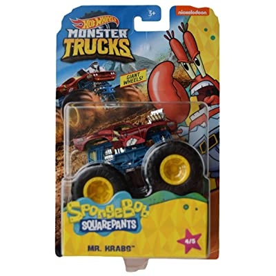Hot Wheels Monster Trucks Spongebob Squarepants Mr Krabs 4/5: Toys & Games